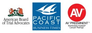 Santa Barbara litigation lawyers recognized by American Board of Trial Advocates, Pacific Coast Business Times, and AV Preeminent